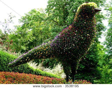 Flower Sculpture Bird