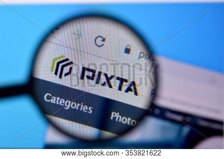 Homepage Of Pixta Website On The Display Of Pc, Url - Pixtastock.com.