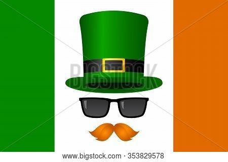 St Patricks Day Decoration. Leprechaun Hat. Vector.