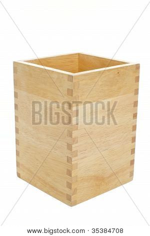 wood box isolated on a white background