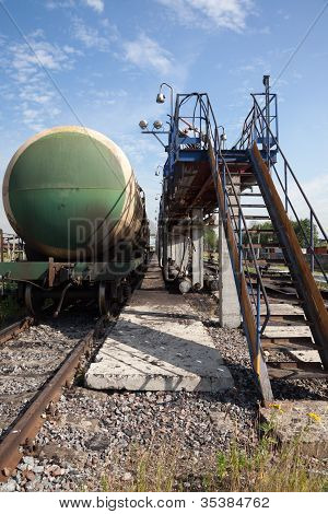 Railway Tank With Fuel Oil.