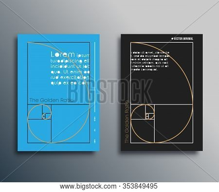 Golden Ratio - Fibonacci Spiral Design For Flyer, Brochure Cover, Card, Typography Or Other Printing