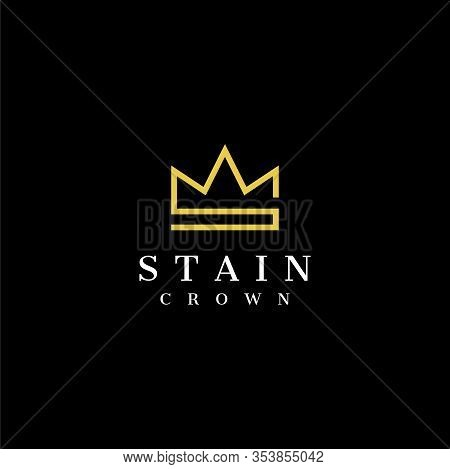 Clean Line Logo Design That Represent Letter S And Crown - Eps10 - Vector.