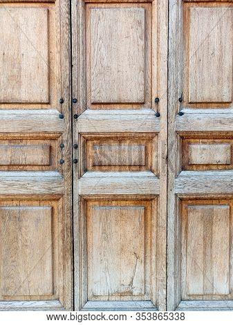 Old Wooden Rustic Door, Vintage Background Texture