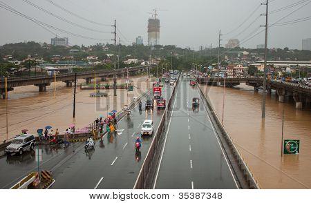 Flood in Manila, Philippines