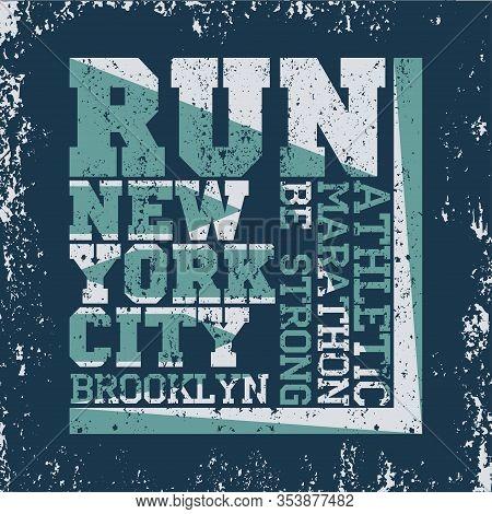 New York Typography, T-shirt Brooklyn, Design Graphic, Printing Man Nyc