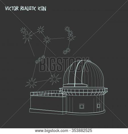 Astrophysics Icon Line Element. Vector Illustration Of Astrophysics Icon Line Isolated On Clean Back