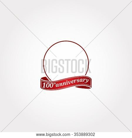 Template Logo 100th Anniversary With A Circle And The Number 100 In It And Labeled The Anniversary Y