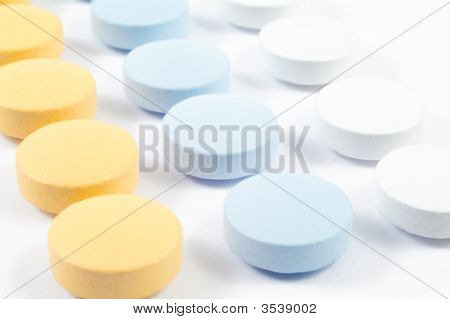 Drugs And Pills On White