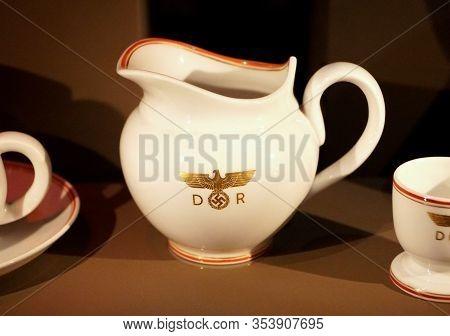 New Orleans, Louisiana, U.s.a - February 4, 2020 - The German Nazis Teacup Used During World War Ii