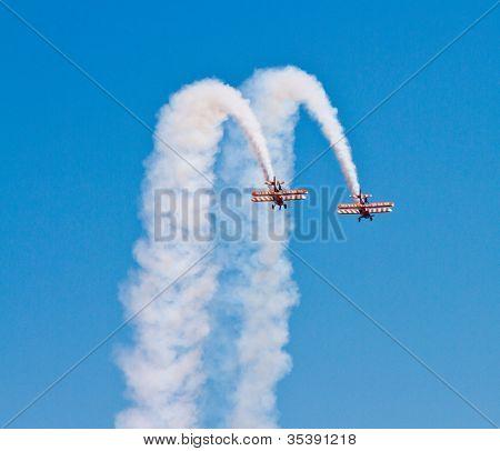 Breitling Biplane Wingwalkers Display team