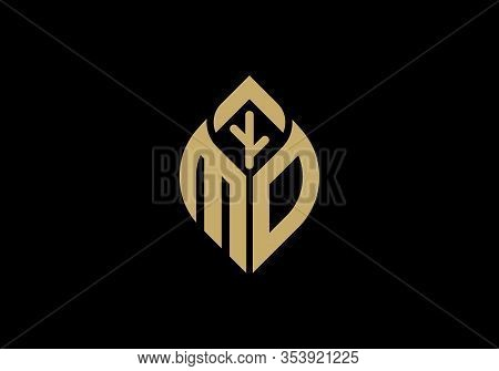 Initial Letter M And O With Abstract Leaf Logo Sign Symbol