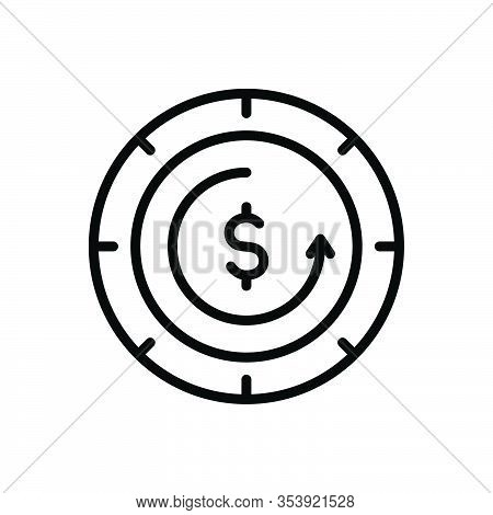 Black Line Icon For Absolute Complete Accomplished Out-and-out Entire Ultimate Dollar Perfect