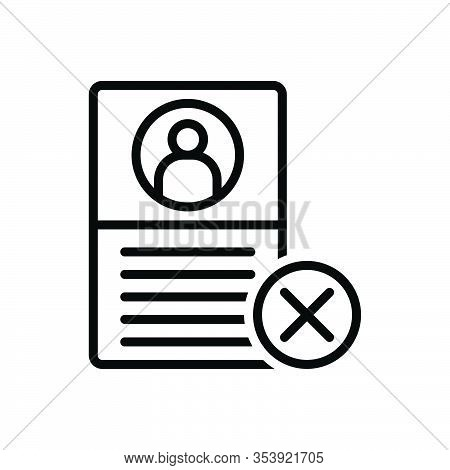 Black Line Icon For Failure Deselect Unselected Document Fiasco Hoodoo Multiplied Cross