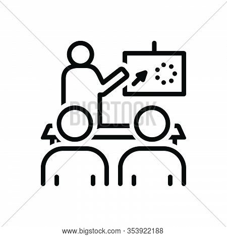 Black Line Icon For Illustrate Exemplify Be Example Decode Spell-out Show-and-tell Make Plain Explai