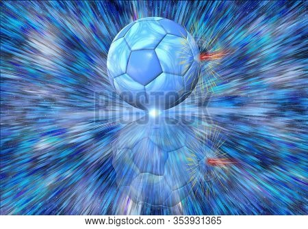 Artistic 3d Illustration Of The Singularity Of Massive Wormhole