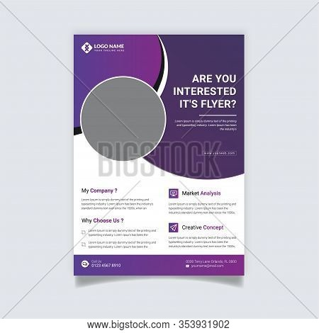 Creative and Clean abstract Business vector template for Brochure design, cover modern layout, poster, flyer in A4 for using personal or marketing purposes, Modern Corporate Flyer Design, Professional Corporate Flyer Templates, Best Corporate flyer design