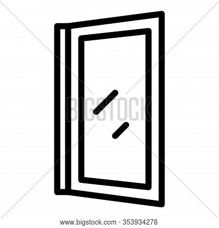 Install Window Icon. Outline Install Window Vector Icon For Web Design Isolated On White Background