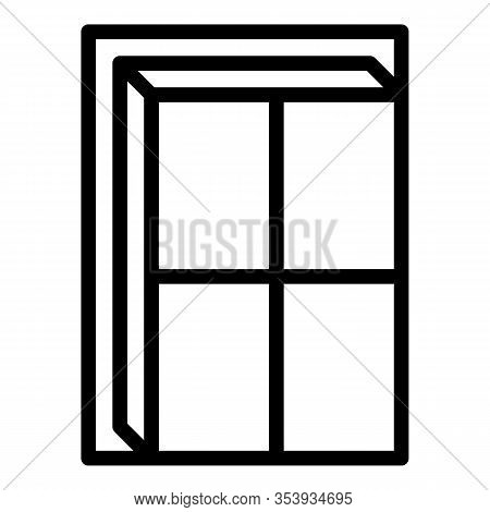 Residential Window Icon. Outline Residential Window Vector Icon For Web Design Isolated On White Bac