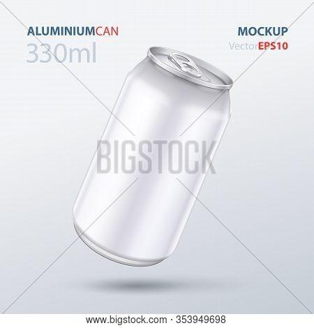 Mockup Metal Aluminum Beverage Drink Can 500ml, 0, 5l. Beer, Soda, Lemonade, Juice, Energy. Mock Up