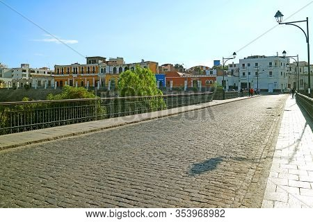 The Puente Bolognesi Bridge, The Oldest Bridge Over River Chili In Arequipa, Peru, 2nd May 2018