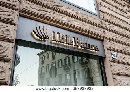 Palermo, Sicily - February 8, 2020: The Window Of The Ibl Banca Bank In Palermo Which Provides Finan