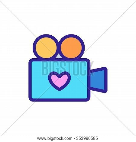 Adult Video Icon Vector. Thin Line Sign. Isolated Contour Symbol Illustration