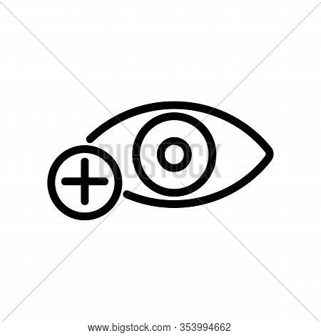 Myopia Icon Vector. Thin Line Sign. Isolated Contour Symbol Illustration