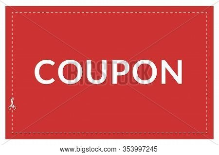 Coupon Boundary Box With A Dotted Cut Line.