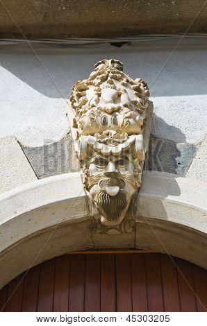 Historical palace. Venosa. Basilicata. Italy.