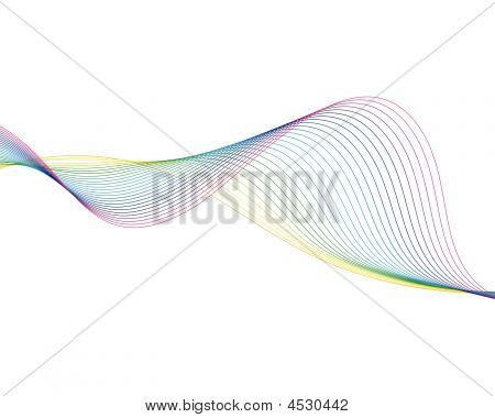 Colourful lines background on sea theme for design use poster