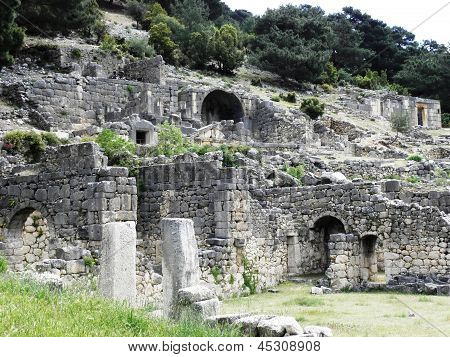 Ancient tombs and Roman baths in Arykanda