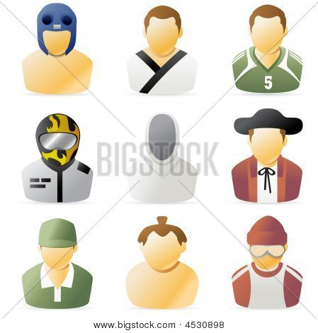 Series of people icon. sport athlete avatar 2. poster