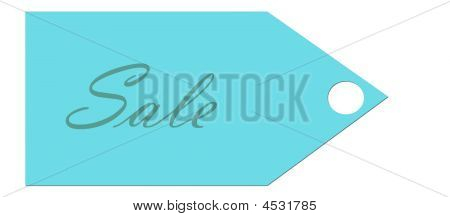 Blue Sale Tag