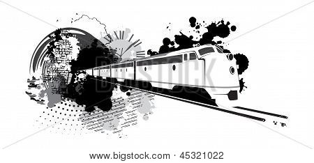 Abstract Train Silhouette
