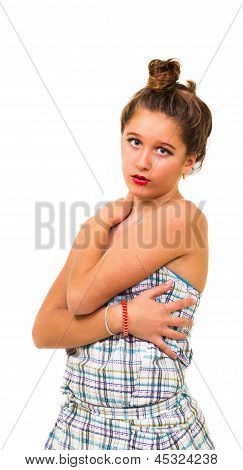 Girl With Hands Around The Body