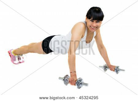A Young Woman Doing Fitness