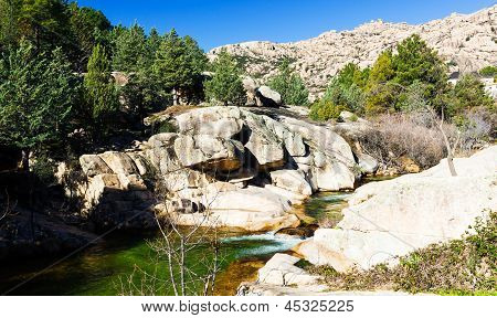 Cascade Falls Over Rocks, Landscape