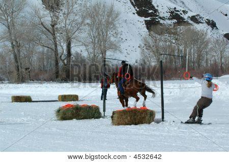 Ski Joring Rider And Skier 3