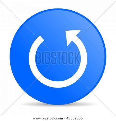 rotate blue circle web glossy icon
