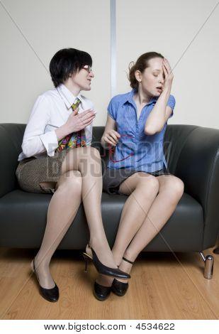 Two Colleagues Disscuss Gossip