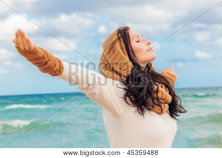 happy life breathing deep