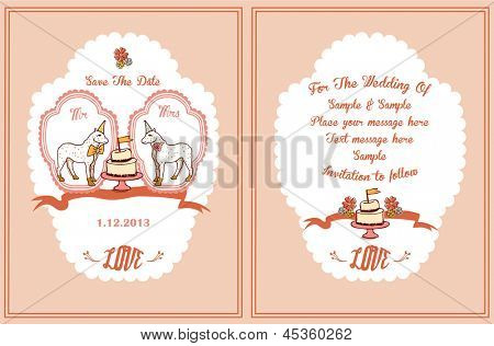 Save The date-Mr & Mrs wedding