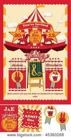 Circus Sideshow Wedding Save the Date Invitation poster