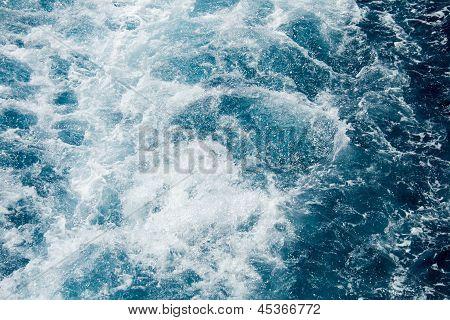 Foamy Mediterranean Sea Water