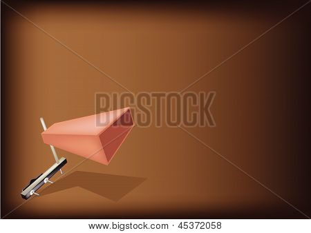 The Musical Cowbell On Dark Brown Background