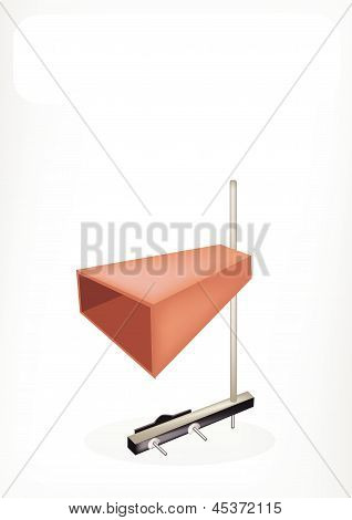 The Musical Cowbell With A White Banner