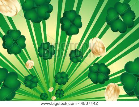 Retro 3D Shamrock St. Patrick's Day