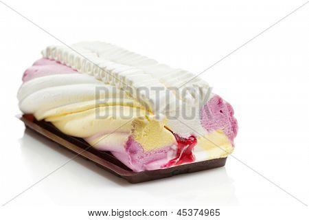 Delicious panna cotta ice cream cake