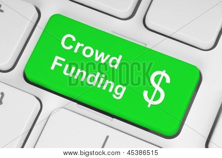 A green crowd funding button